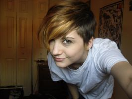 me with my new hair cut by Simply-Alive
