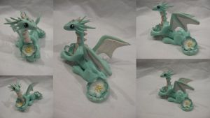 Mint Blossom dragon by assassin-kitty