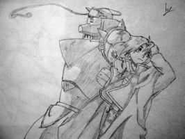 FMA. Edward and Alphonse. by Teishie-Chan