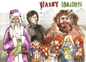 Harry Potter Holidays by SirSubaru