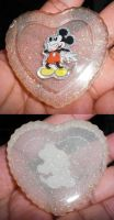Mickey Mouse Resin Heart by 13anana