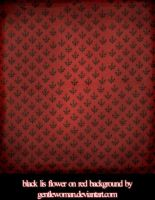 fabric_black lis on red bg pck by gentlewoman