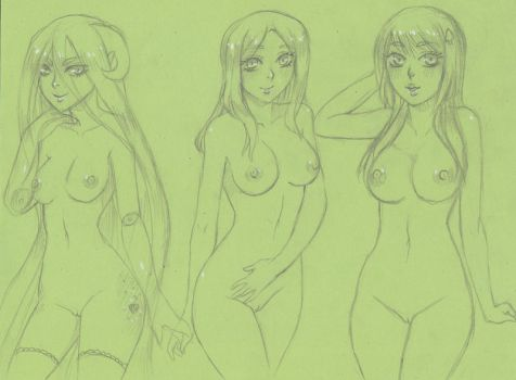 .Free Sketch Requests 2. by GhostlyNudes