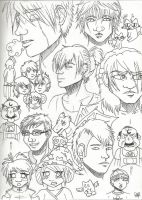 Collage Of Characters by BakaShinagami