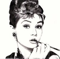 First Ballpoint Drawing, Audrey Hepburn by KCMillustration