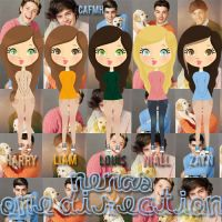 Nenas One Direction (en femeninas) by ComeAndFixMyHeart