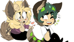 Chibi monsters- Hannah x Shaun by Sniperisawesome