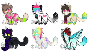 Neon Feline Adoptable Auction II Closed II by StarryEvening