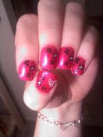 Konad Nail design Flowers by AngelElementsEtsy