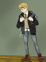 APH: Student Body President - Arthur Kirkland by nutburgers-official