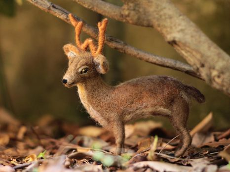 Poseable Deer Sculpture by LaVolpeCimina