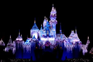 Christmas Disneyland Castle by ConsultingTimeLord96