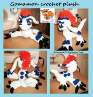 Gomamon crochet plush by Sasophie