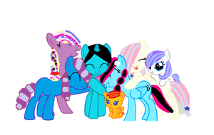 Mlp OC Group Hug by rainbow3972