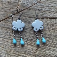 Raincloud Earrings by MeticulousBlue