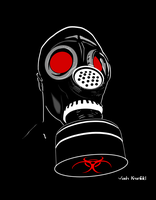 Gas Mask Portrait by VashKranfeld