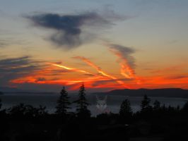 Sunset From HIll. by wolfwings1