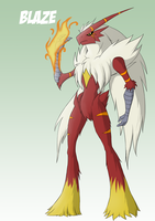 RE Blaziken 'Blaze' by dragonmanX