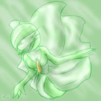 Gardevoir sketch by Blue-Uncia