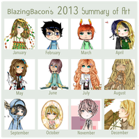 2013 Digital Art Summary by BlazingBacon