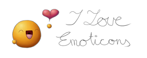 I love Emoticons mug white by Krissi001