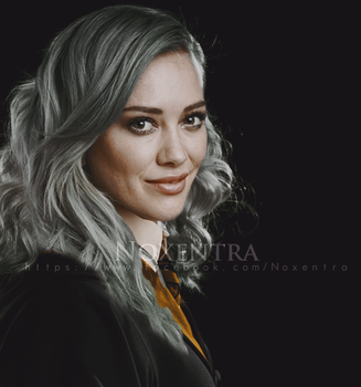 Hilary Duff as Hufflepuff by N0xentra
