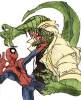The Lizard vs Spiderman - Colour by ChocolateBiscuits