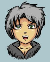 Guy With Grey Hair. by Android18a