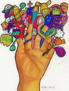 The Doodling Hand by Pilulu