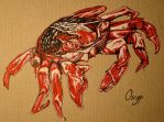 Just red crab by Oscyp
