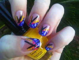 Abstraction Distraction Nail Art by MissDaniLips