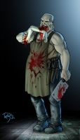 Commission The Butcher by TazioBettin