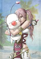 Serah and Mog by GidLand