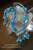 Blue Eyes Turquoise Necklace by Al-Abbasi
