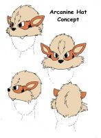 Arcanine Hat concept by jesslyra