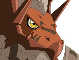 .:WarGrowlmon:. by FoxDemon12