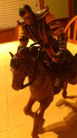 Niggi Scorpion rides a horse by NiggiThor