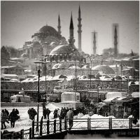 snow in Istanbul. by KeremOkay
