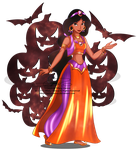 Jasmine - Halloween outfit by selinmarsou