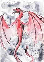 watercolour again. dragon by Black-Hearted-Poet