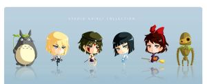 Studio Ghibli Chibi Set by Aniteen9