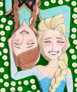 Laughter - Anna and Elsa by BGShepard