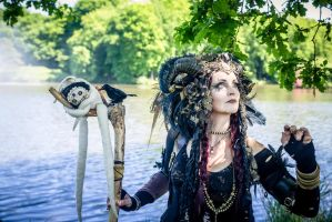 Stock - Faun looks up fantasy voodoo gothic by S-T-A-R-gazer