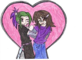 Jeff Hardy x Rouge Valentine by Sonyie