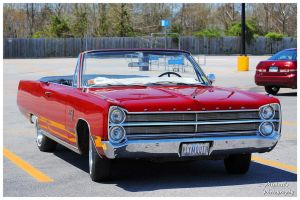 A Hot Red Plymouth Sport Fury Convertible by TheMan268