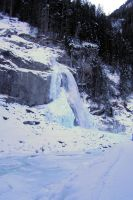frozen Krimml waterfall by picture-melanie