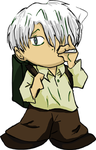Youmacon '08 Sticker - Ginko by Patches365