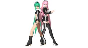 MMD DT World Ends DanceHall Sexy Black Rebel by willianbrasil