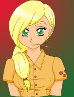 MLP: Applejack Human by KittyBelle01