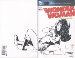 Wonder Woman sketch cover by TeamAmazing